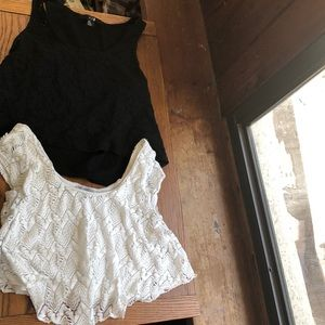 Tops - Black and white crop tops!